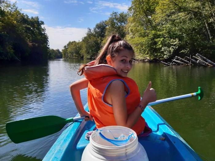 Canoeing on the Dronne Village du Livre