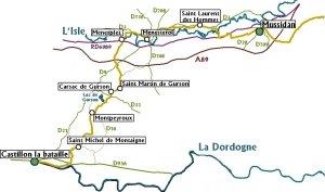 Im Rad von Lawrence von Arabien Etappe 1 Castillon la Bataille-Mussidan